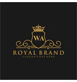 wa letter initial luxurious brand logo template vector image vector image