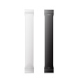 White And Black Blank Foil Packaging Plastic vector image vector image
