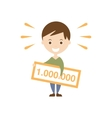 Winning Lottery As Personal Happiness Idea vector image