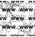 WWW pattern grunge monochrome vector image vector image