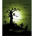 Greeny Halloween background vector image