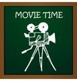 chalk draw old movie camera Eps10 vector image