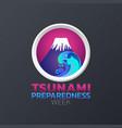 tsunami preparedness week icon design infographic vector image