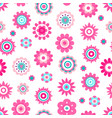 abstract flowers made of geometric figures and dot vector image vector image