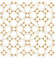 abstract geometric ethnic patterngold and white vector image vector image