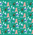 baboy pattern vector image vector image
