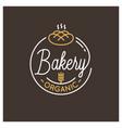 bakery shop logo round linear logo bread dark vector image vector image