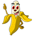 banana cartoon thumb up vector image vector image