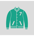 Baseball jacket icon vector image