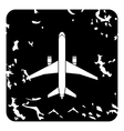 Big plane icon grunge style vector image vector image