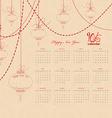 calendar 2016 with chinese lantern garland