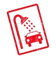 Car Shower Icon Rubber Stamp vector image
