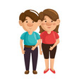 cartoon couple icon vector image vector image