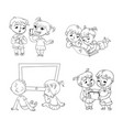 children and technical progress coloring book vector image vector image