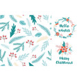 christmas fir seamless pattern greeting card with vector image vector image