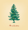 christmas tree realistic pine tree vector image vector image
