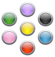 colored glossy icons vector image vector image