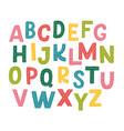 cute hand drawn alphabet vector image vector image