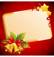 Decorative Christmas invitation postcard vector image vector image