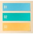 Design Template For Infographics Numbered Banners vector image vector image