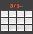 elegant corporate 2018 calendar vector image