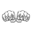 epic fail words tattoo font vector image vector image