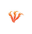 fire logo hot logo and symbols template icons vector image