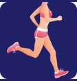 fitness girl sportswoman female runner running vector image