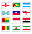 Gallery of National Flags on Metal Texture Plates vector image vector image