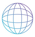 globe world icon in color gradient silhouette from vector image vector image