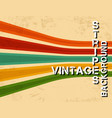 grunge vintage background with colorful stripes vector image