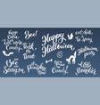 happy halloween hand written text vector image