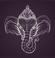 head hindu god ganesha vector image vector image