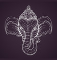Head of hindu god ganesha vector image
