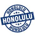 honolulu blue round grunge stamp vector image vector image