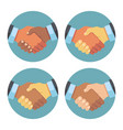 international business partnership handshake vector image vector image