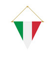 italian triangle flag hanging vector image