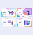 laundry service website landing page templates vector image vector image