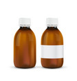 medical bottle brown glass container vector image