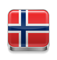 Metal icon of Norway vector image
