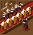 music isometric composition vector image