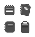 Notepad icon in a flat design isolated vector image vector image