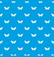 origami butterfly pattern seamless blue vector image vector image