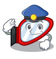 police side mirror isolated with the character vector image vector image