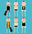 Punk man in summer clothes and swimwear vector image vector image