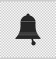 ringing bell icon on transparent background vector image vector image