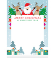 Santa Claus and Reindeer Frame vector image
