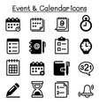 schedule reminder calendar event icon set vector image