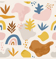 seamless childish pattern with hand drawn abstract vector image