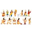 set of american indians vector image